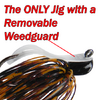 "No brushguard, No wire guard to Trim, Cut, Bend, or adjust. The Camelback Jig simply uses a 4/0 ""Slideoff Weedguard"" for HAIR TRIGGER HOOK-SETS!!"