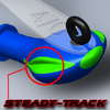 """Steady Track"" is a cutting edge technology applied to the Camelback Jigs"